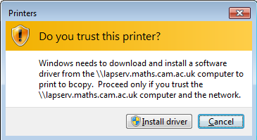 After installing suitable drivers you should get the new printer